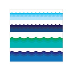 Water Border Water Waves Ocean Sea Small Satin Scarf (square)