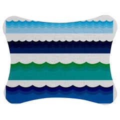 Water Border Water Waves Ocean Sea Jigsaw Puzzle Photo Stand (bow)