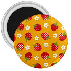 Strawberry 3  Magnets