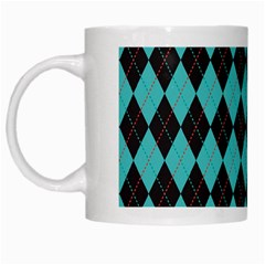 Tumblr Static Argyle Pattern Blue Black White Mugs