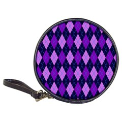 Tumblr Static Argyle Pattern Blue Purple Classic 20 Cd Wallets