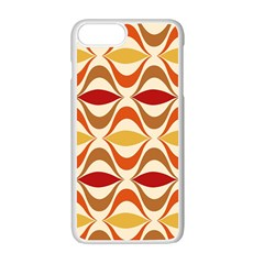 Wave Orange Red Yellow Rainbow Apple Iphone 7 Plus White Seamless Case