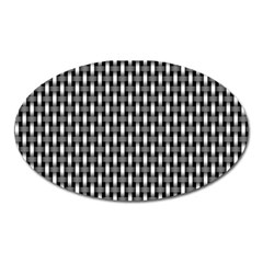 Webbing Woven Bamboo Oval Magnet