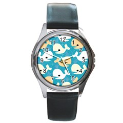 Whole Sea Animals Round Metal Watch