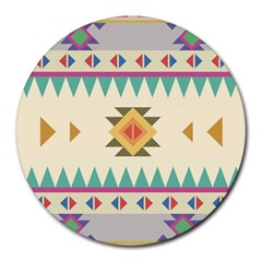 Your First Aztec Pattern Round Mousepads