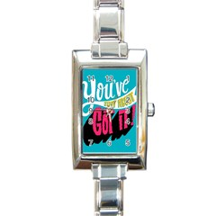 Youve Just About Gotit Rectangle Italian Charm Watch