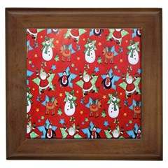 Xmas Santa Clause Framed Tiles
