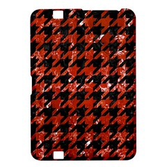 Houndstooth1 Black Marble & Red Marble Kindle Fire Hd 8 9  Hardshell Case
