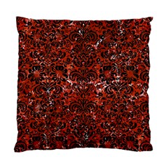 Damask2 Black Marble & Red Marble (r) Standard Cushion Case (one Side)