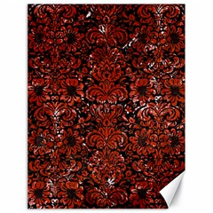 Damask2 Black Marble & Red Marble Canvas 18  X 24