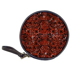 Damask2 Black Marble & Red Marble Classic 20 Cd Wallet