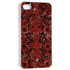 Damask2 Black Marble & Red Marble Apple Iphone 4/4s Seamless Case (white)