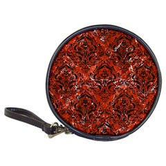 Damask1 Black Marble & Red Marble (r) Classic 20 Cd Wallet