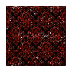 Damask1 Black Marble & Red Marble Face Towel