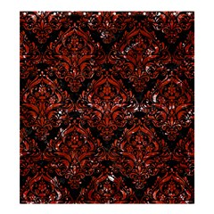 Damask1 Black Marble & Red Marble Shower Curtain 66  X 72  (large)