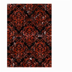 Damask1 Black Marble & Red Marble Large Garden Flag (two Sides)