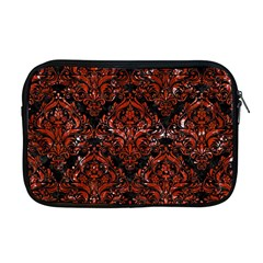 Damask1 Black Marble & Red Marble Apple Macbook Pro 17  Zipper Case