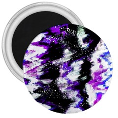 Abstract Canvas Acrylic Digital Design 3  Magnets