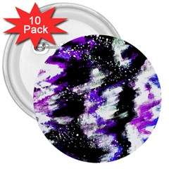Abstract Canvas Acrylic Digital Design 3  Buttons (10 Pack)