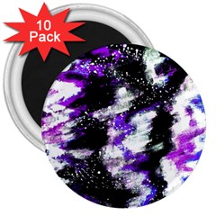 Abstract Canvas Acrylic Digital Design 3  Magnets (10 Pack)