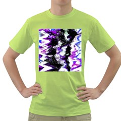 Abstract Canvas Acrylic Digital Design Green T Shirt