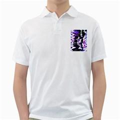 Abstract Canvas Acrylic Digital Design Golf Shirts