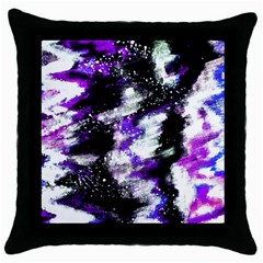 Abstract Canvas Acrylic Digital Design Throw Pillow Case (black)