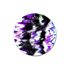 Abstract Canvas Acrylic Digital Design Magnet 3  (round)