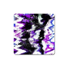 Abstract Canvas Acrylic Digital Design Square Magnet
