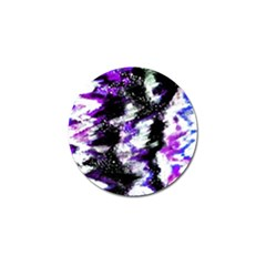 Abstract Canvas Acrylic Digital Design Golf Ball Marker