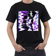 Abstract Canvas Acrylic Digital Design Men s T Shirt (black) (two Sided)