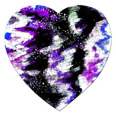 Abstract Canvas Acrylic Digital Design Jigsaw Puzzle (heart)
