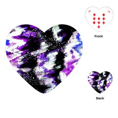 Abstract Canvas Acrylic Digital Design Playing Cards (heart)