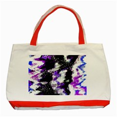 Abstract Canvas Acrylic Digital Design Classic Tote Bag (red)