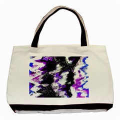 Abstract Canvas Acrylic Digital Design Basic Tote Bag (two Sides)