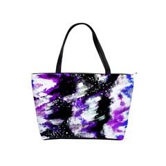 Abstract Canvas Acrylic Digital Design Shoulder Handbags
