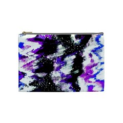 Abstract Canvas Acrylic Digital Design Cosmetic Bag (Medium)