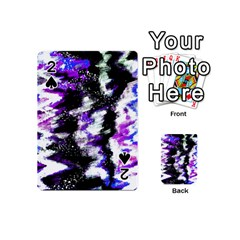 Abstract Canvas Acrylic Digital Design Playing Cards 54 (mini)