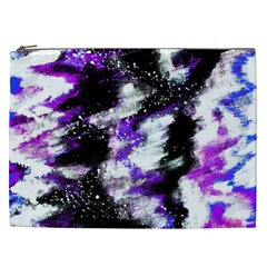 Abstract Canvas Acrylic Digital Design Cosmetic Bag (xxl)