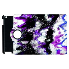 Abstract Canvas Acrylic Digital Design Apple Ipad 2 Flip 360 Case