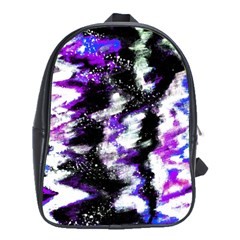 Abstract Canvas Acrylic Digital Design School Bags (xl)