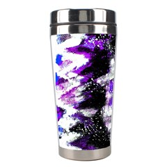 Abstract Canvas Acrylic Digital Design Stainless Steel Travel Tumblers