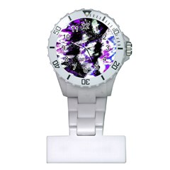 Abstract Canvas Acrylic Digital Design Plastic Nurses Watch