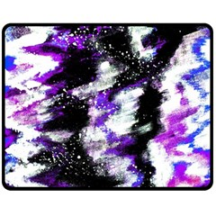 Abstract Canvas Acrylic Digital Design Double Sided Fleece Blanket (medium)