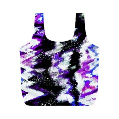 Abstract Canvas Acrylic Digital Design Full Print Recycle Bags (m)