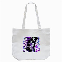 Abstract Canvas Acrylic Digital Design Tote Bag (white)