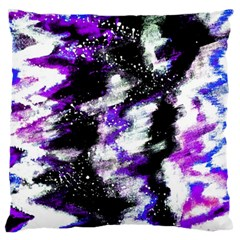 Abstract Canvas Acrylic Digital Design Large Flano Cushion Case (two Sides)