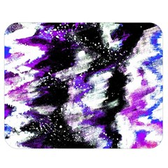 Abstract Canvas Acrylic Digital Design Double Sided Flano Blanket (medium)