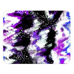 Abstract Canvas Acrylic Digital Design Double Sided Flano Blanket (large)