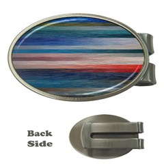Background Horizontal Lines Money Clips (Oval)